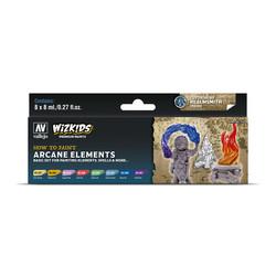 Wizkids set: Arcane Elements - 8 x 8ml - Vallejo - VAL-80258