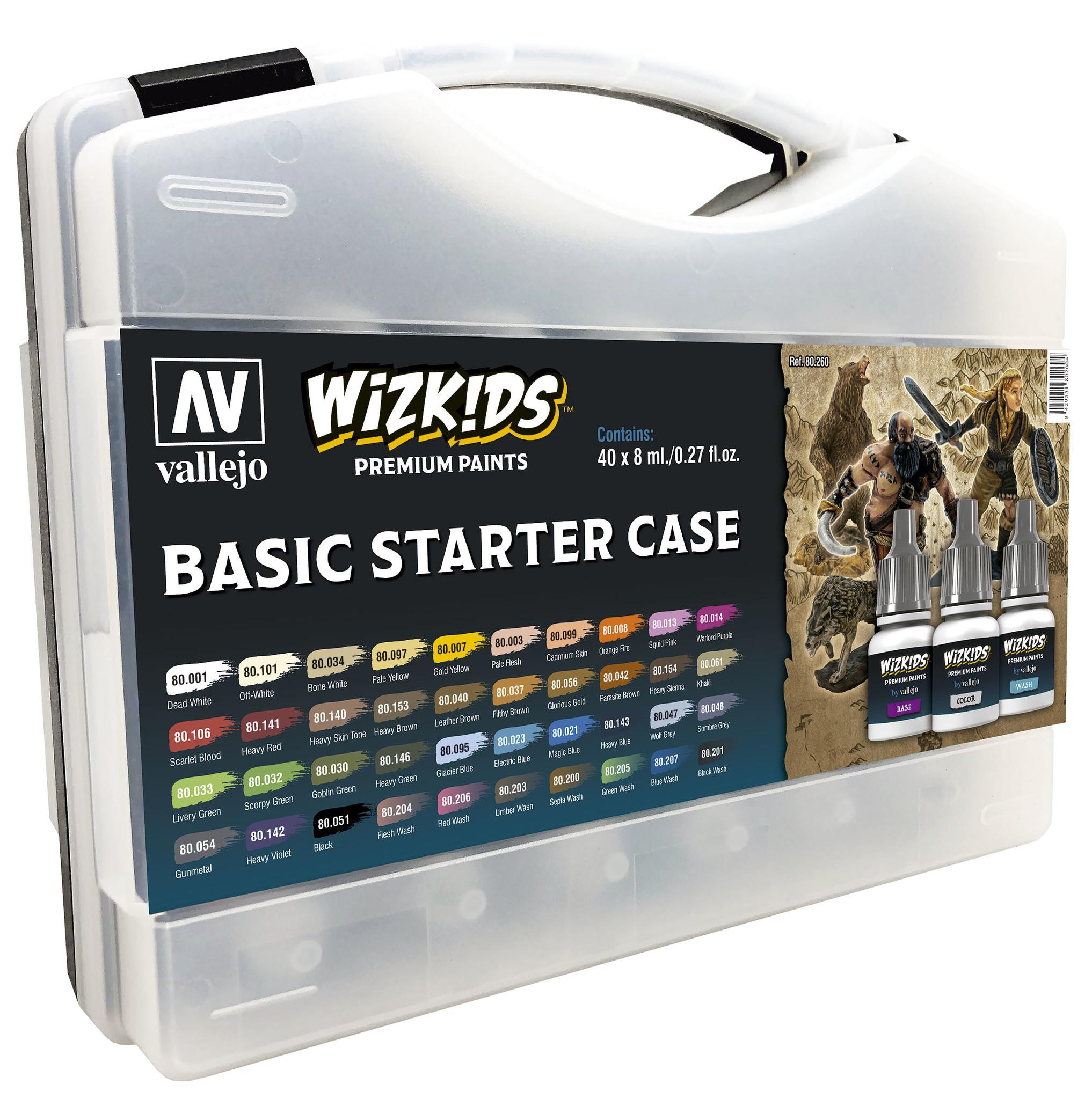 Vallejo Wizkids Basic Starter Case - 40 x 8ml - Vallejo - VAL-80260