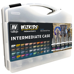 Wizkids Intermediate Case - 40 x 8ml - Vallejo - VAL-80261