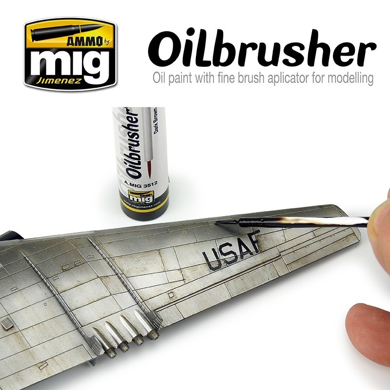 Ammo by Mig Jimenez Oilbrusher - Dark Brown - A.MIG-3512