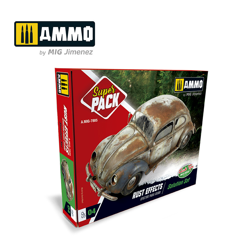 Ammo by Mig Jimenez Rust Effects Solution Set - Ammo by Mig Jimenez - A.MIG-7805