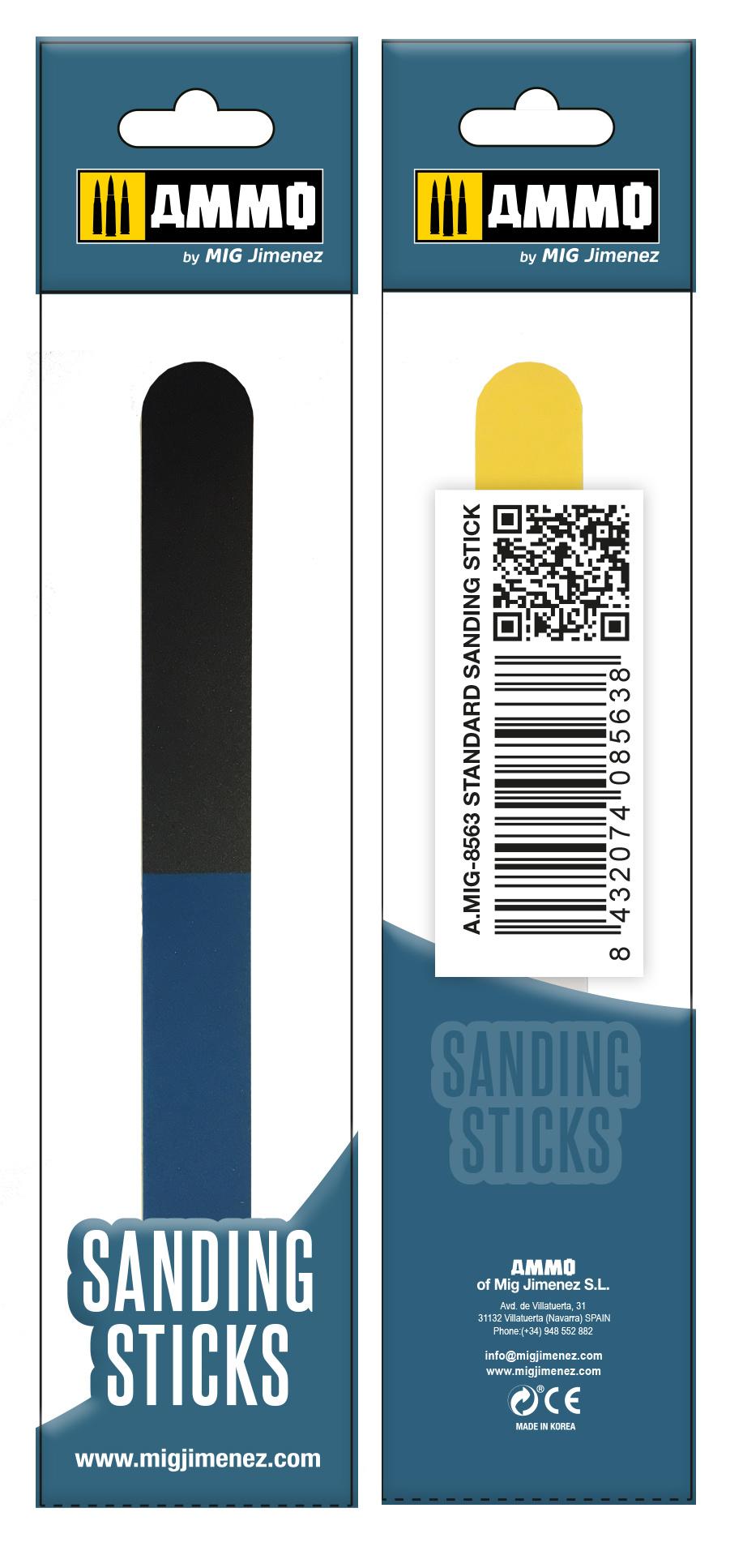 Ammo by Mig Jimenez Standard Sanding Stick - Ammo by Mig Jimenez - A.MIG-8563