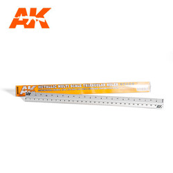 Metallic Multi Scale Triangular Ruler