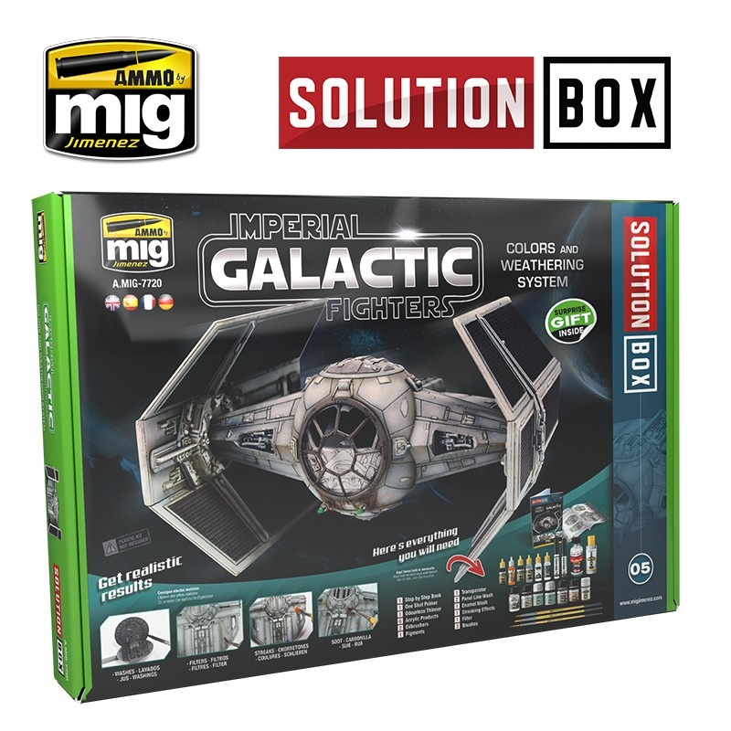 Ammo by Mig Jimenez Solution Box 05 Imperial Galactic Fighters  - Ammo by Mig Jimenez - A.MIG-7720