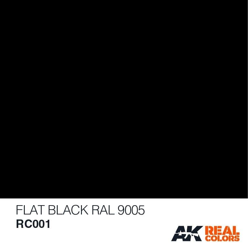 AK-Interactive Flat Black RAL 9005 - 10ml - RC001