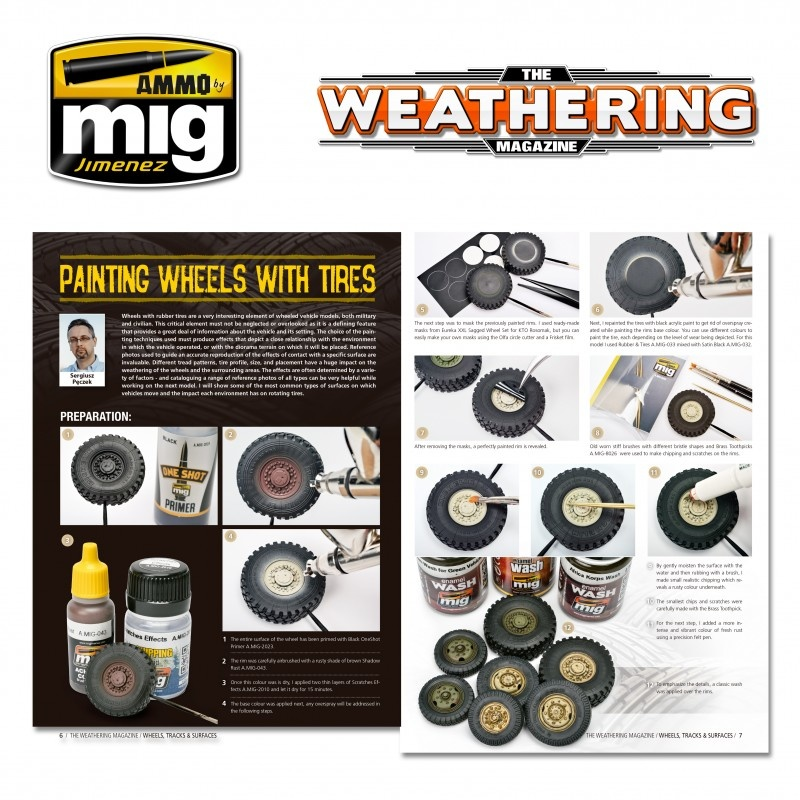 The Weathering Magazine The Weathering Magazine Issue 25. Wheels, Tracks & Surfaces - English - Ammo by Mig Jimenez - A.MIG-4524