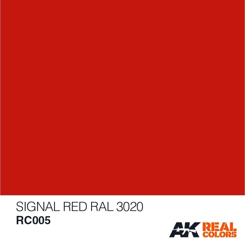 AK-Interactive Signal Red RAL 3020 - 10ml - RC005