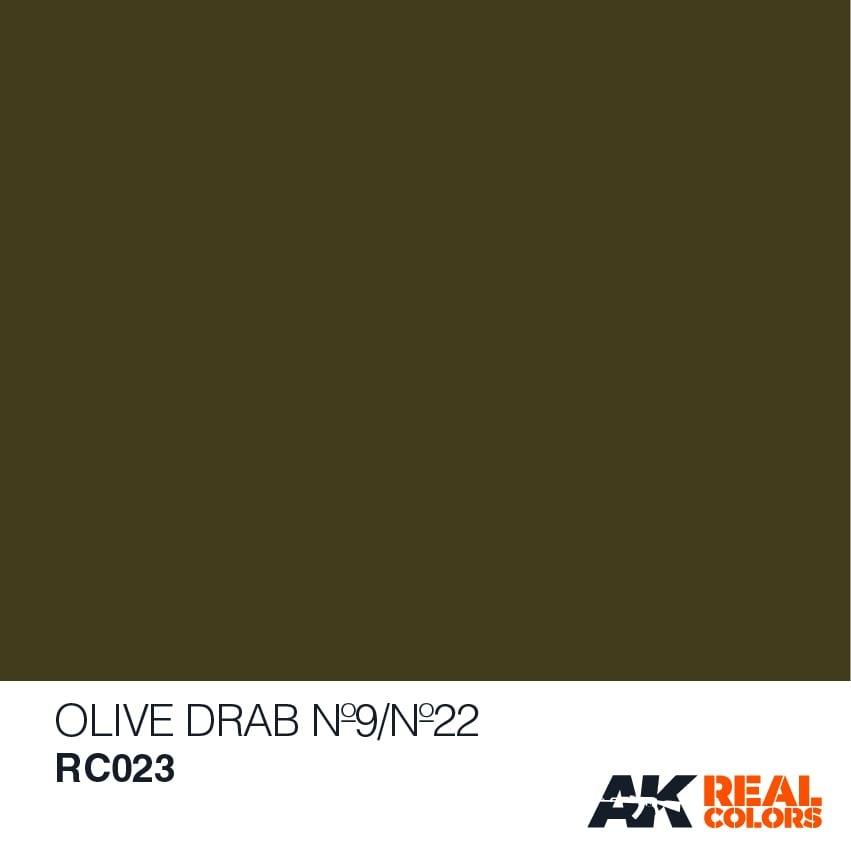 AK-Interactive Olive Drab No9/No22 - 10ml - RC023