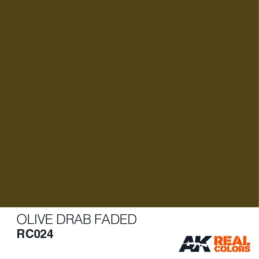 AK-Interactive Olive Drab Faded - 10ml - RC024
