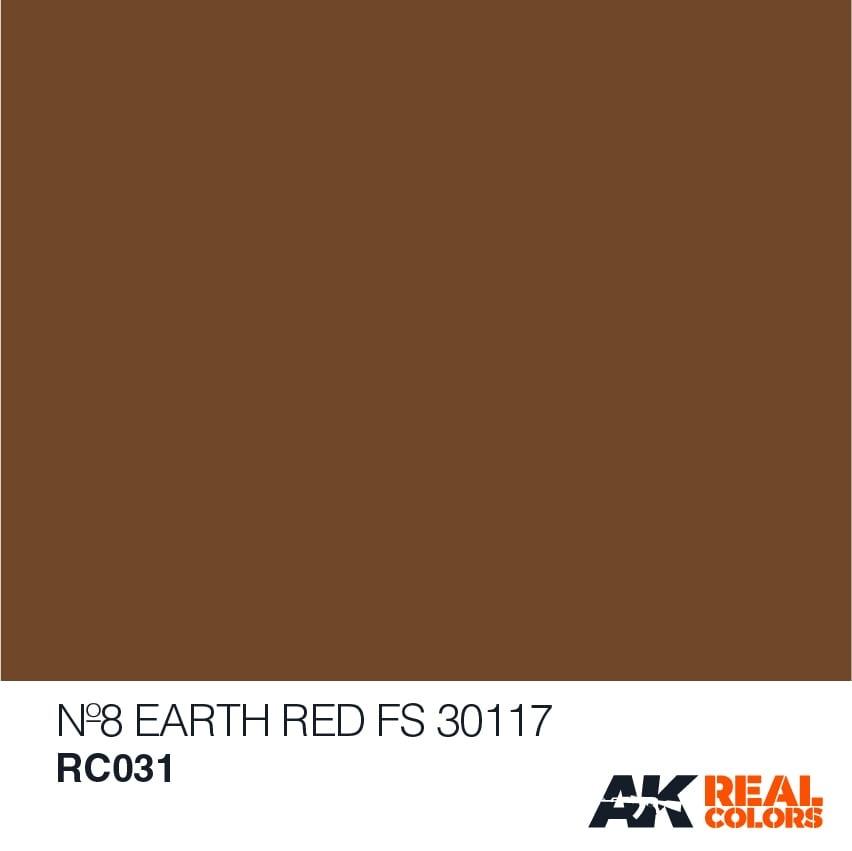 AK-Interactive No8 Earth Red FS 30117 - 10ml - RC031