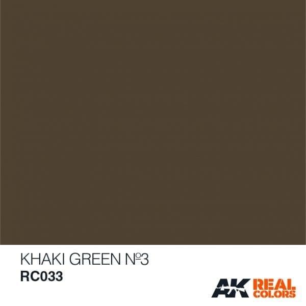 AK-Interactive Khaki Green No3 - 10ml - RC033
