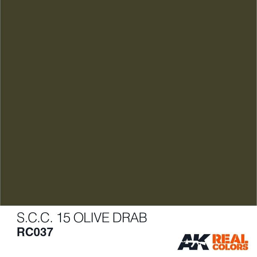 AK-Interactive S.C.C. 15 Olive Drab - 10ml - RC037