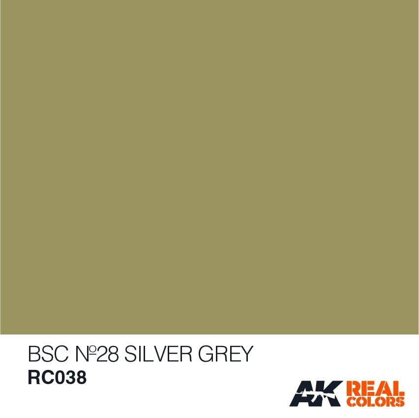 AK-Interactive BSC No28 Silver Grey - 10ml - RC038