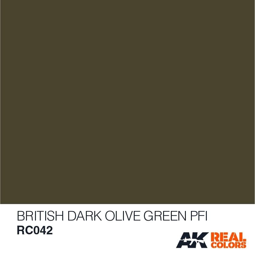 AK-Interactive British Dark Olive Green PFI - 10ml - RC042