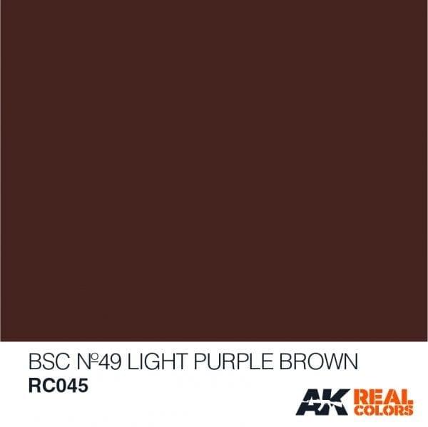 AK-Interactive BSC No49 Light Purple Brown - 10ml - RC045
