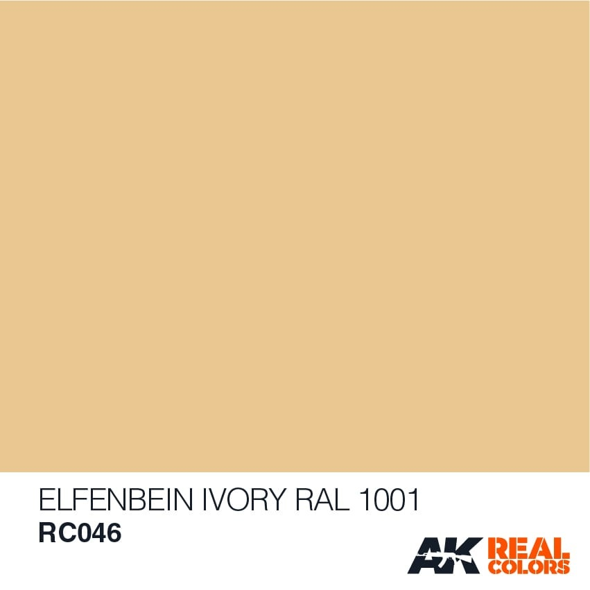 AK-Interactive Elfenbein-Ivory RAL 1001 (Interior Color) - 10ml - RC046