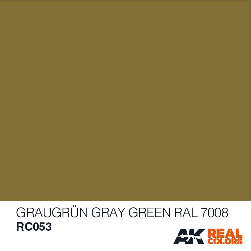 AK-Interactive Graugrün-Gray Green RAL 7008 - 10ml - RC053