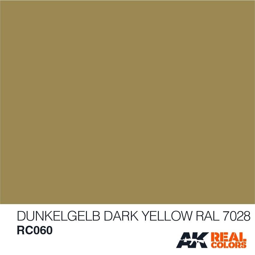 AK-Interactive Dunkelgelb-Dark Yellow RAL 7028 - 10ml - RC060
