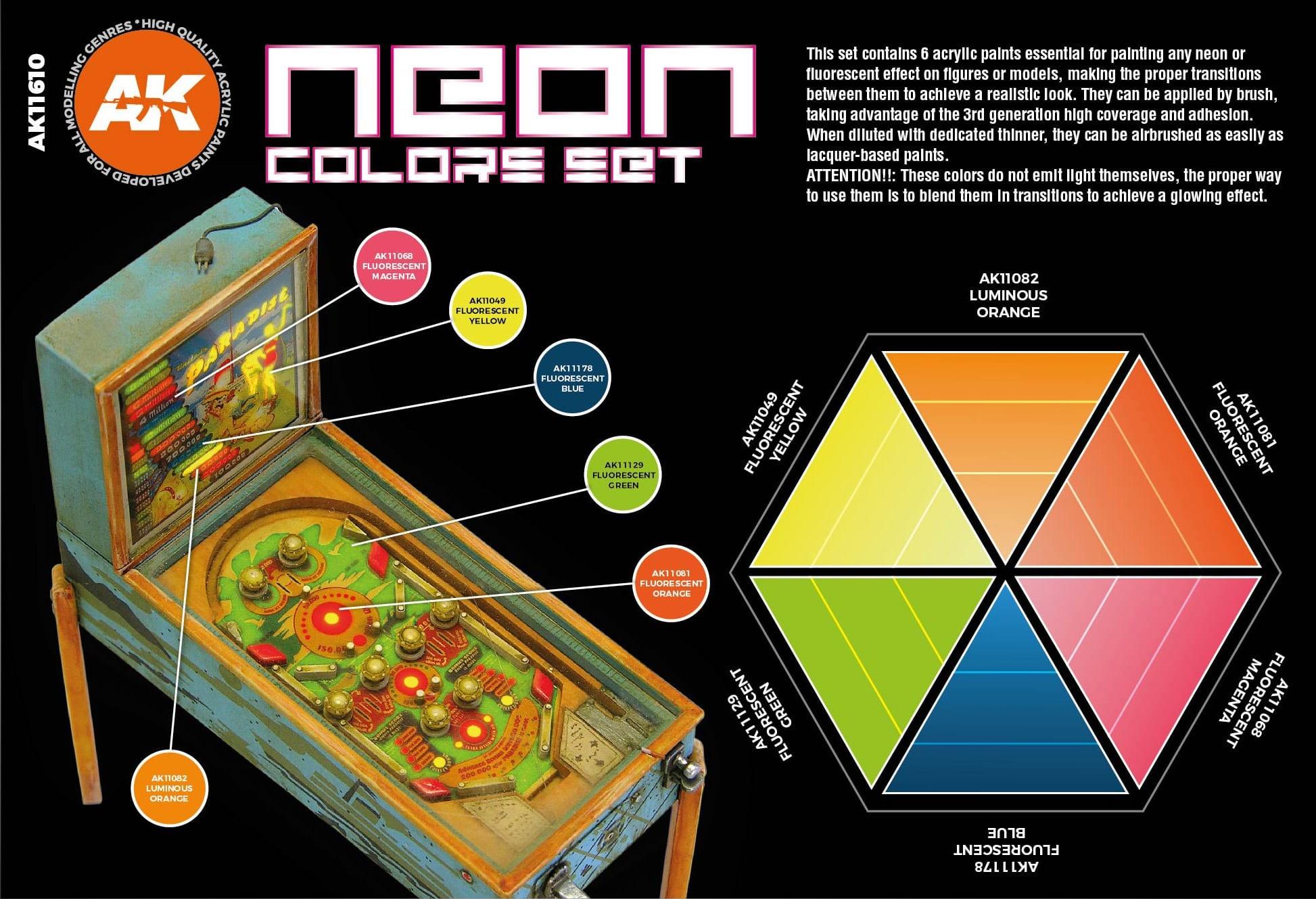 AK-Interactive Neon Colors Set - AK-Interactive - AK-11610