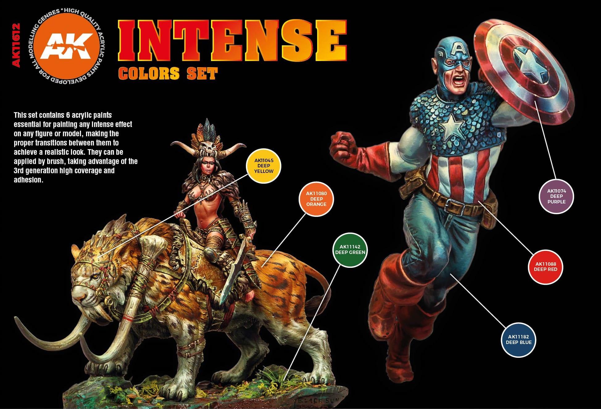 AK-Interactive Intense Colors Set - AK-Interactive - AK-11612