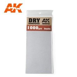 Dry Sandpaper 1000 Grit. 3 Stuks