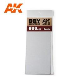 Dry Sandpaper 800 Grit. 3 Stuks