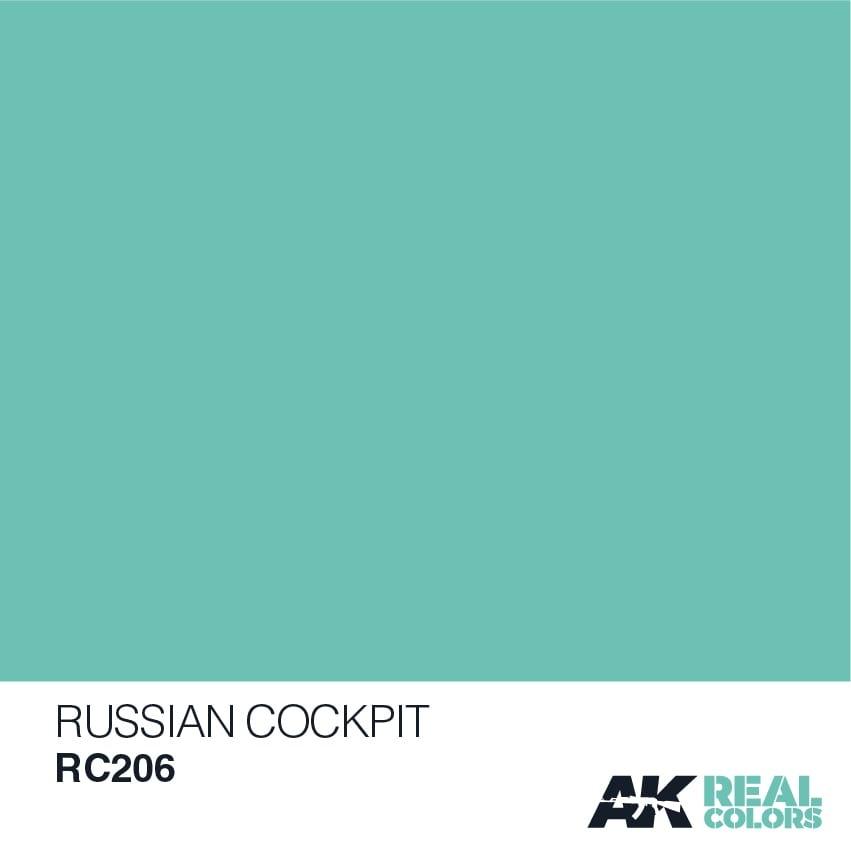AK-Interactive Russian Cockpit Torquise - 10ml - RC206