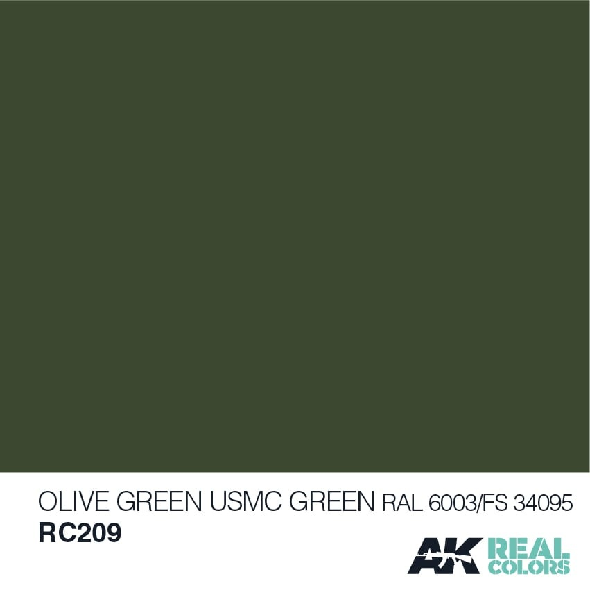 AK-Interactive Olive Green/USMC Green RAL 6003/FS34095 - 10ml - RC209