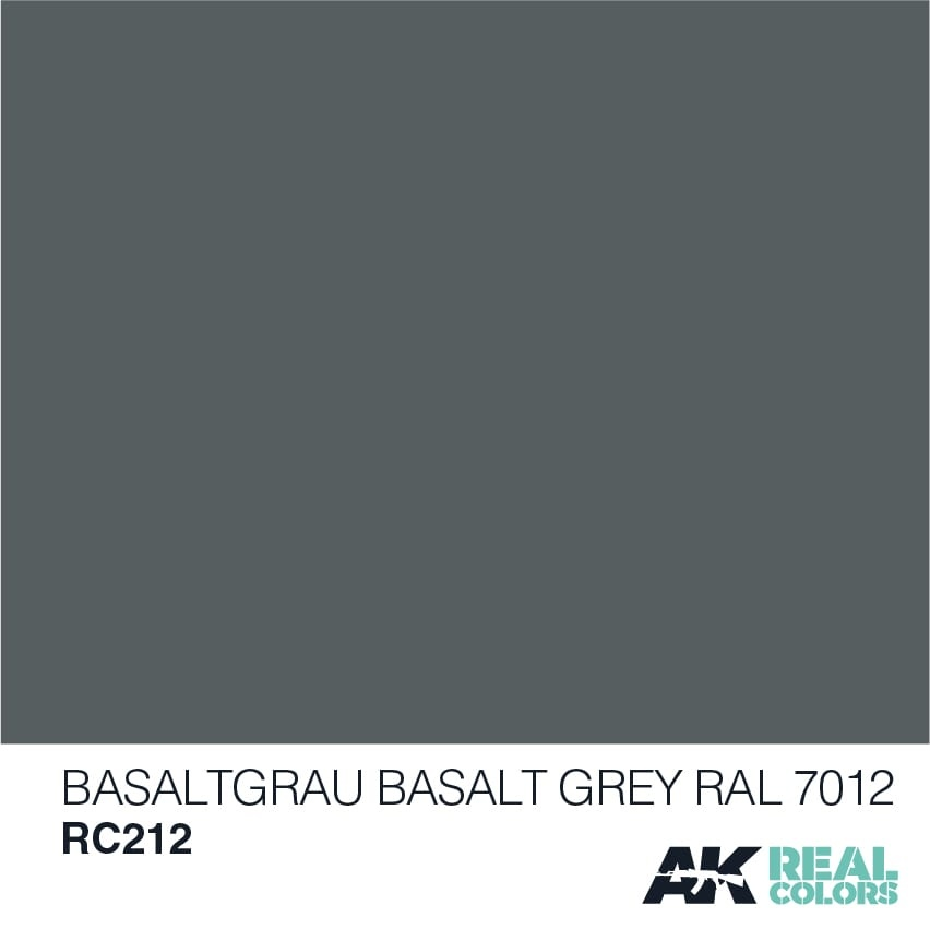AK-Interactive Basaltgrau-Basalt Grey RAL 7012 - 10ml - RC212