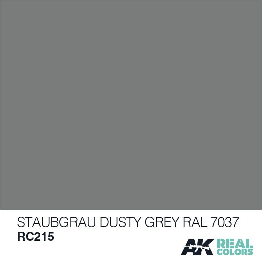 AK-Interactive Staubgrau-Dusty Grey RAL 7037 - 10ml - RC215