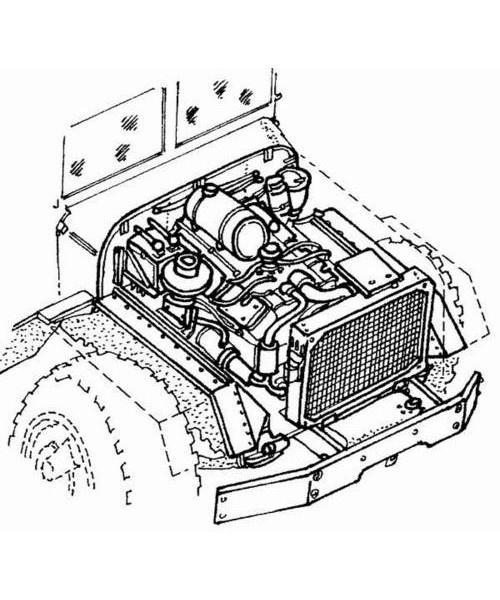 CMK M939 Engine set - Scale 1/35 - CMK - CMK3004