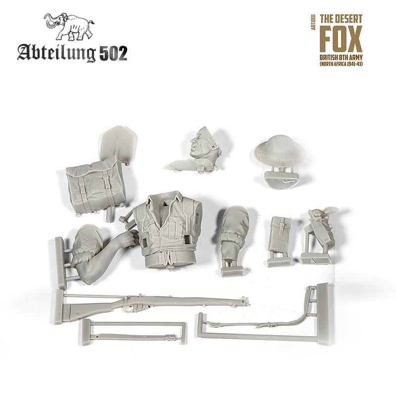 Abteilung 502 The Desert Fox , British 8th Army - Scale 1/10 - ABT1001