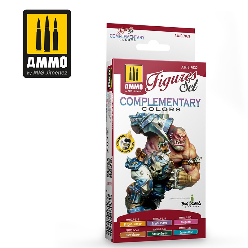 Ammo by Mig Jimenez Complementary Colors. Figures Set - Ammo by Mig Jimenez - A.MIG-7032