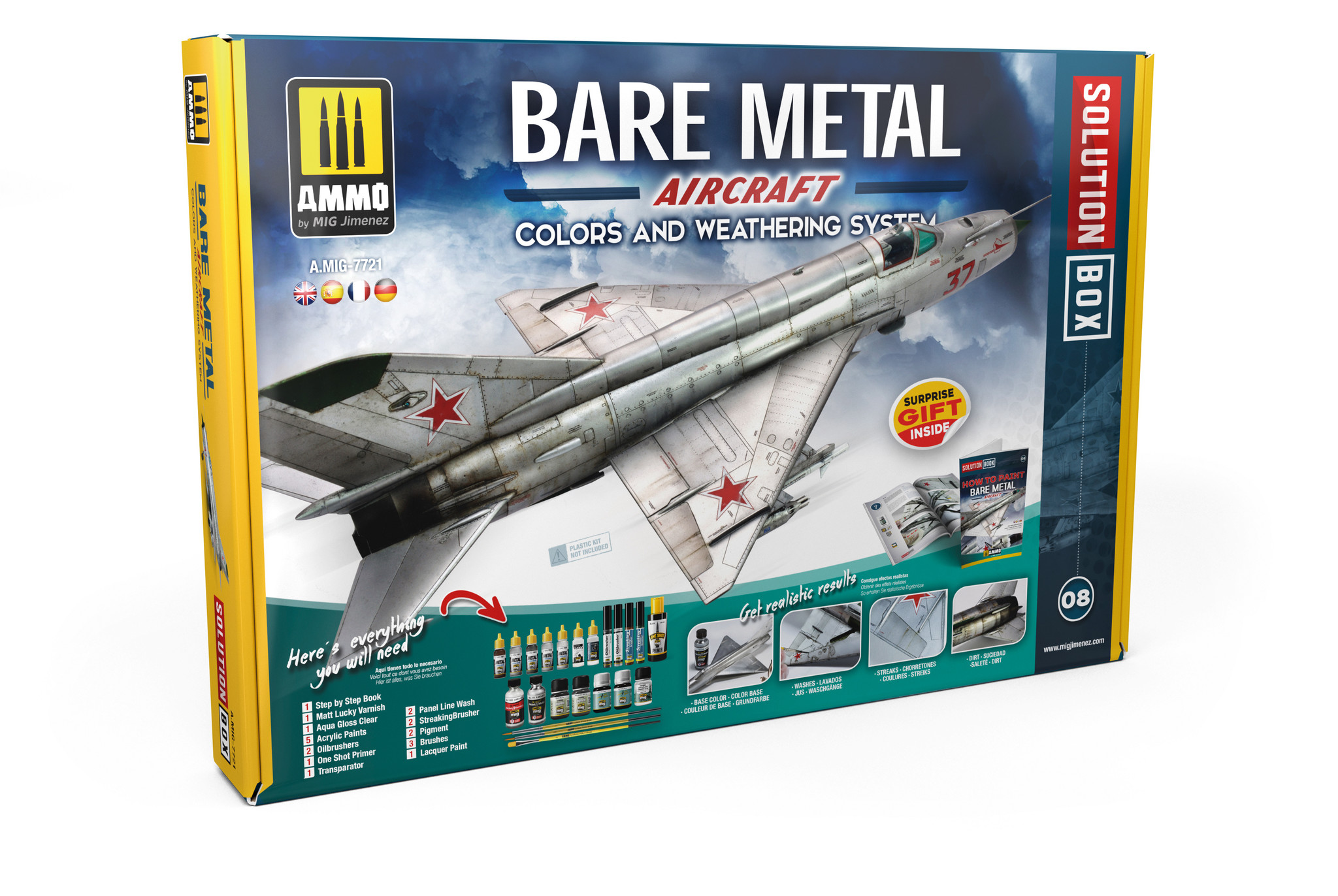 Ammo by Mig Jimenez Bare Metal Aircraft. Colors And Weathering System - Ammo by Mig Jimenez - A.MIG-7721