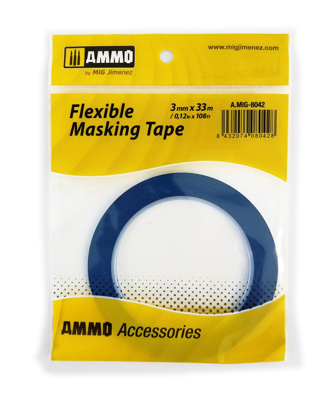 Ammo by Mig Jimenez Flexible Masking Tape (3mm X 33m) - Ammo by Mig Jimenez - A.MIG-8042