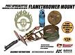 Doozy Post Apocalyiptic Universal Steel Drum Hatch With Flamethrower Mount - Scale 1/24 - Doozy - DZ032
