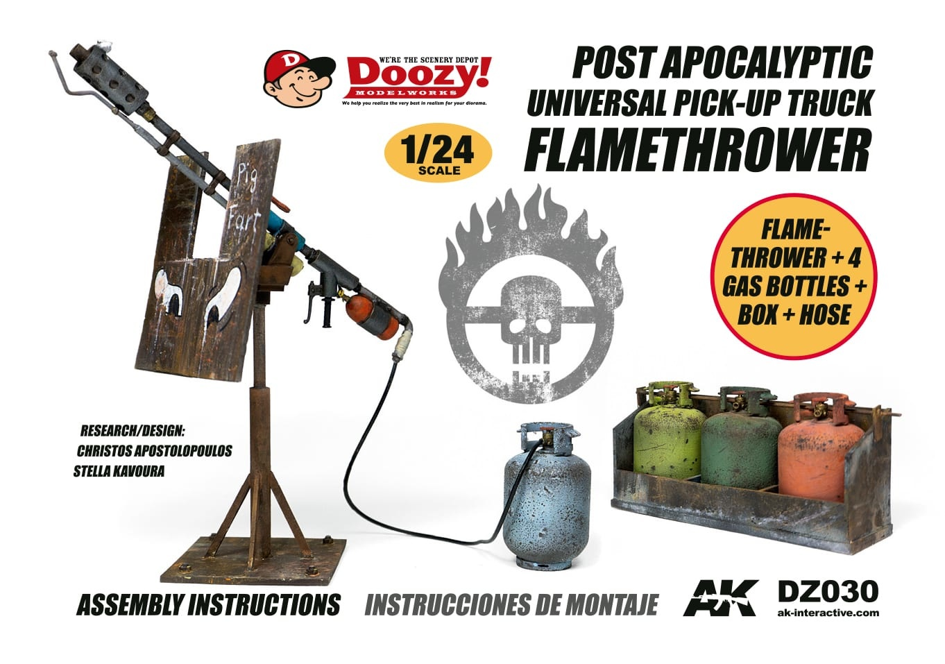 Doozy Post Apocalyiptic Universal Pick-Up Truck Flamethrower - Scale 1/24 - Doozy - DZ030