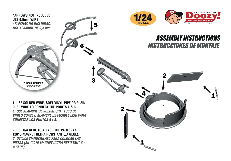Doozy Post Apocalyiptic Universal Steel Drum Hatch With Crossbow Mount - Scale 1/24 - Doozy - DZ033