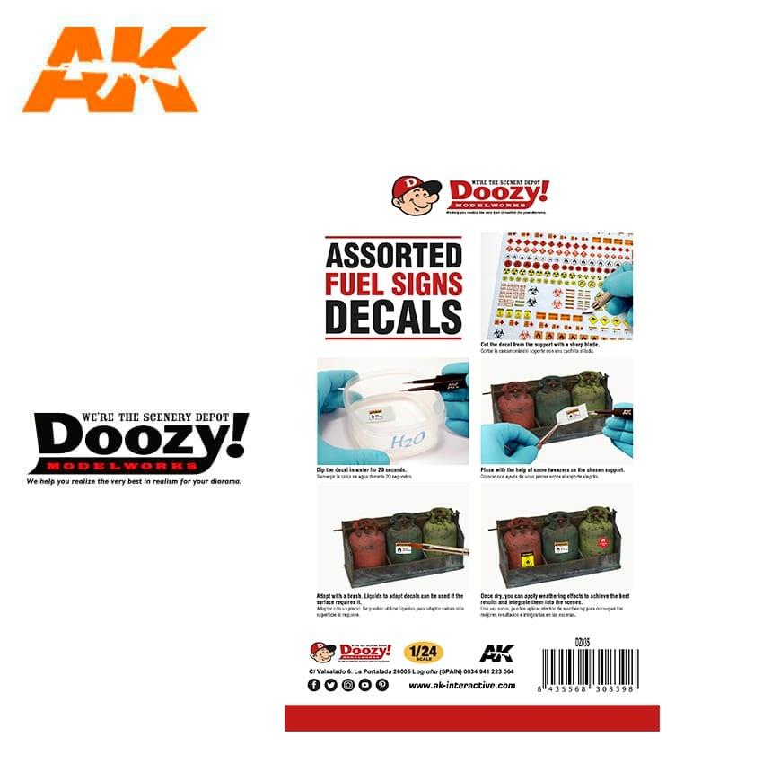Doozy Assorted Fuel Signs Decals - Scale 1/24 - Doozy - DZ035