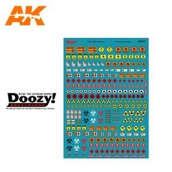 Assorted Fuel Signs Decals - Scale 1/24 - Doozy - DZ035