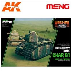 French Heavy Tank Char B1 - Cartoon Model - Meng Models - MM Wwt-016