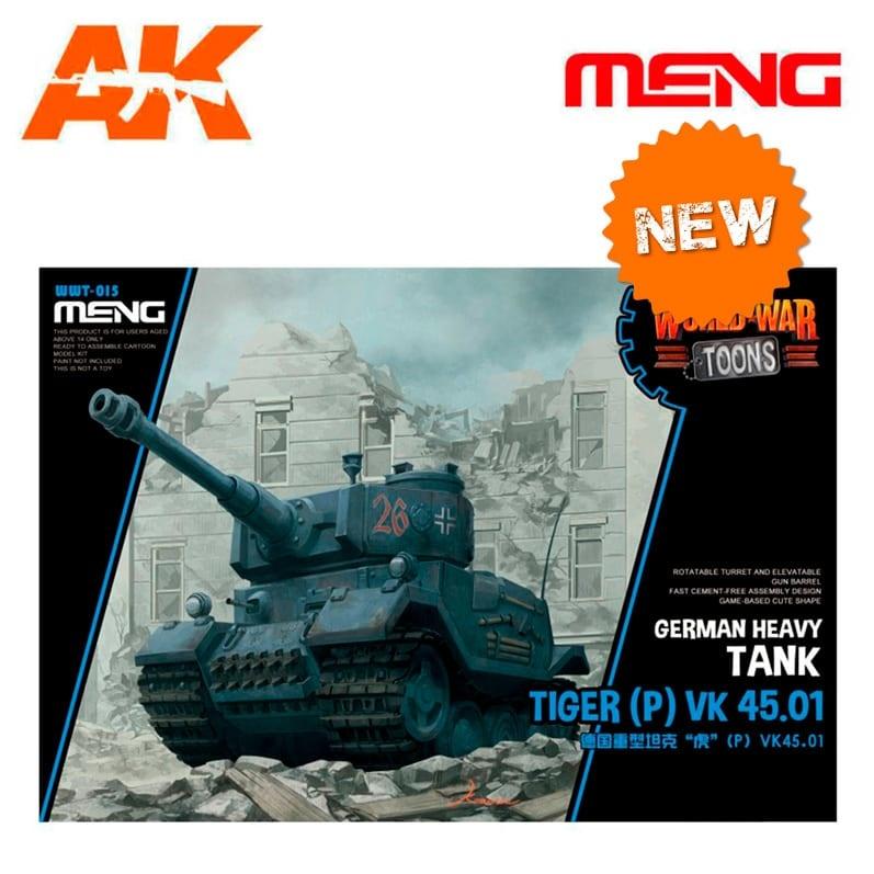 Meng Models German Heavy Tank Tiger (P) Vk 45.01 - Cartoon Model - Meng Models - MM Wwt-015