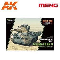 British Infantry Tank A12 Matilda II - Cartoon Model - Meng Models - MM Wwt-014