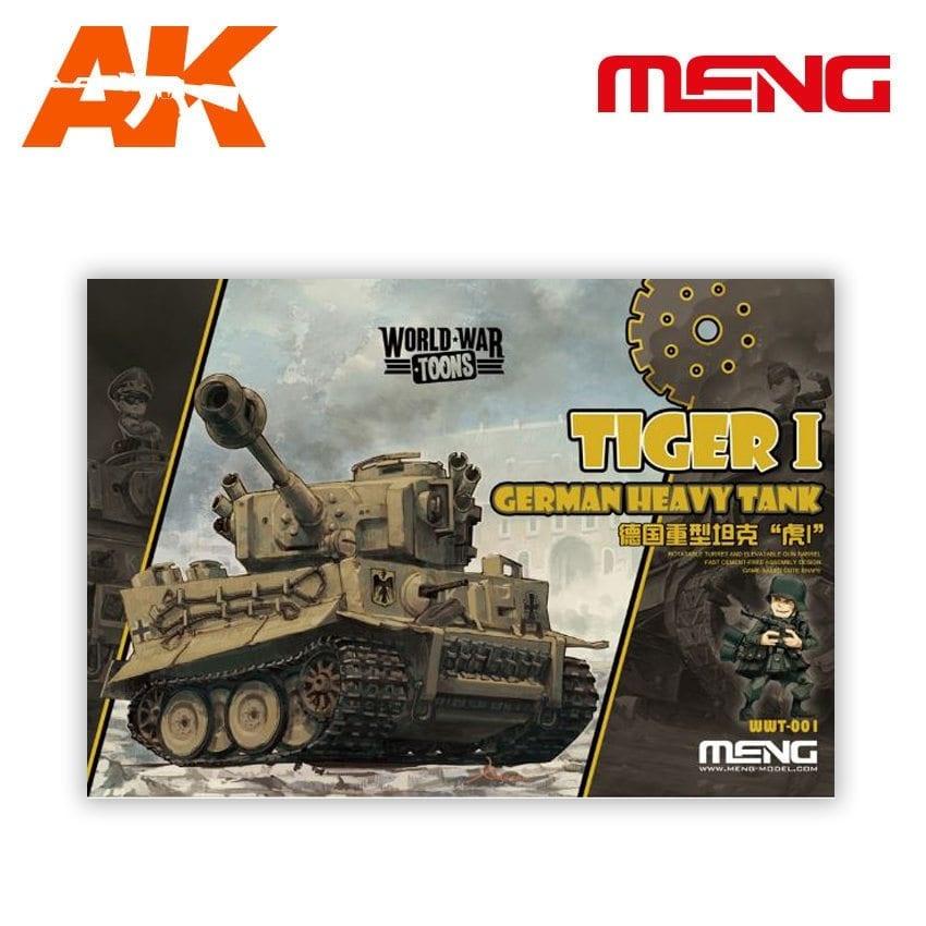 Meng Models Tiger I German Heavy Tank - Cartoon Model - Meng Models - MM Wwt-001