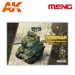 Sherman U.S. Medium Tank M4A1 - Cartoon Model - Meng Models - MM Wwt-002