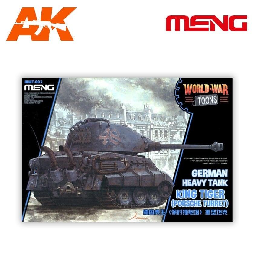 Meng Models German Heavy Tank King Tiger (Porsche Turret) - Cartoon Model - Meng Models - MM Wwt-003