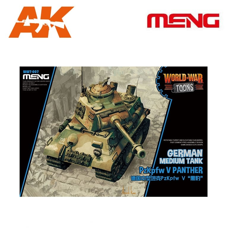 Meng Models German Medium Tank Pzkpfw V Panther - Cartoon Model - Meng Models - MM Wwt-007