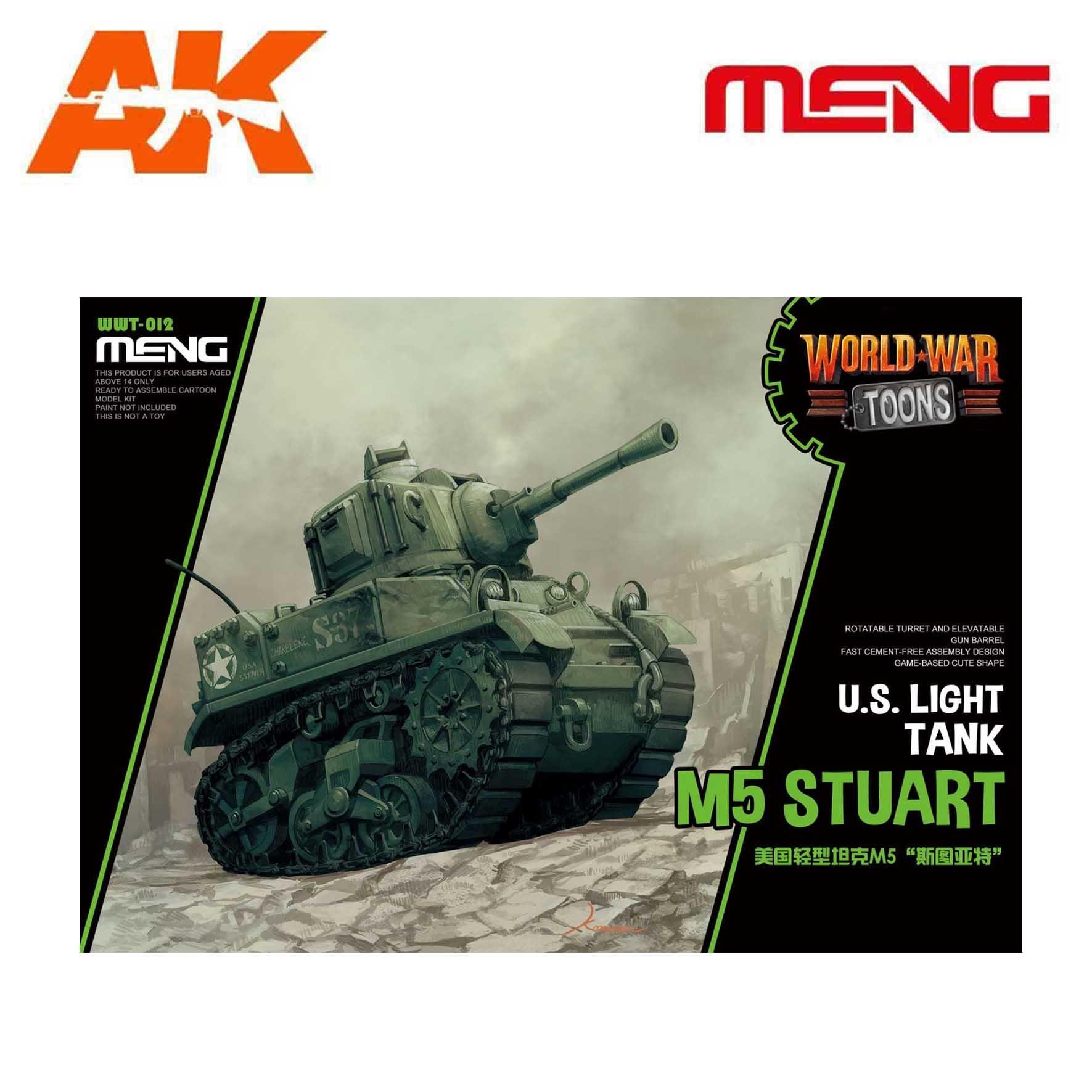 Meng Models U.S. Light Tank M5 Stuart - Cartoon Model - Meng Models - MM Wwt-012