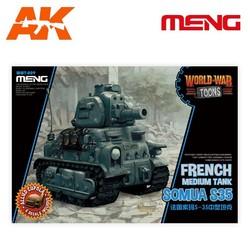 French Medium Tank Somua S-35 - Cartoon Model - Meng Models - MM Wwt-009