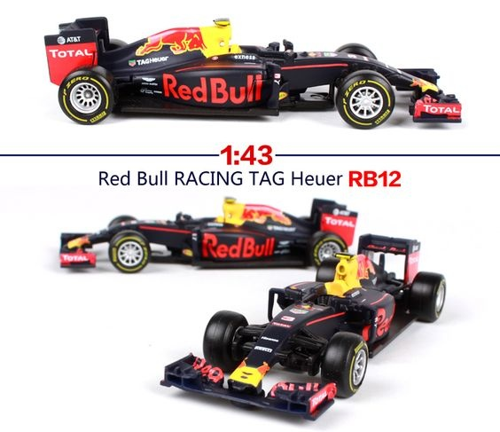 Bburago Max Verstappen Red Bull Rb12 #33 Formula 1 2016 - Scale 1/43 - Bburago - BBO18-38025